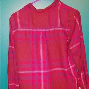 Mossimo boyfriend fit pink flannel size M